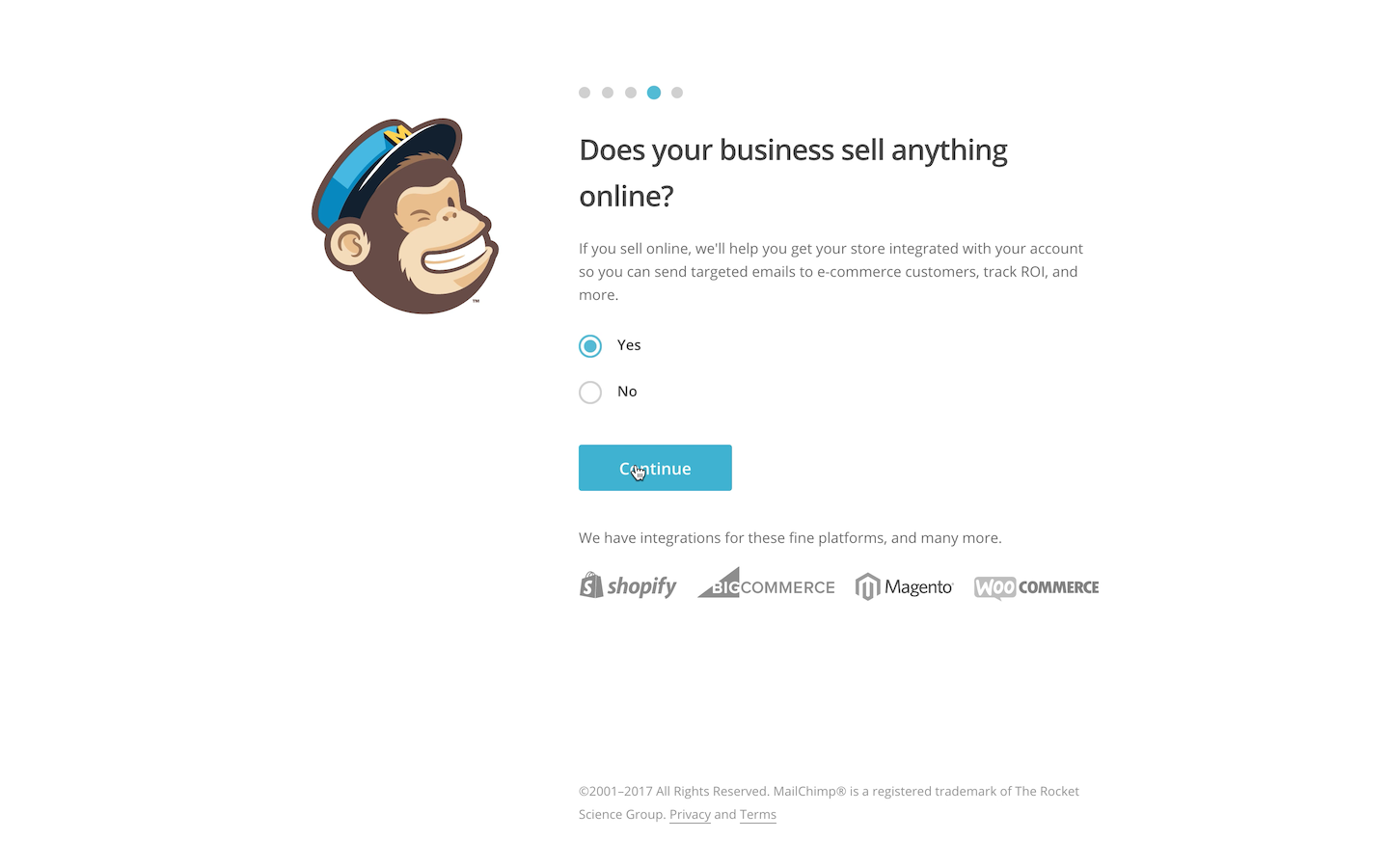 MailChimp Account Creation Integrations